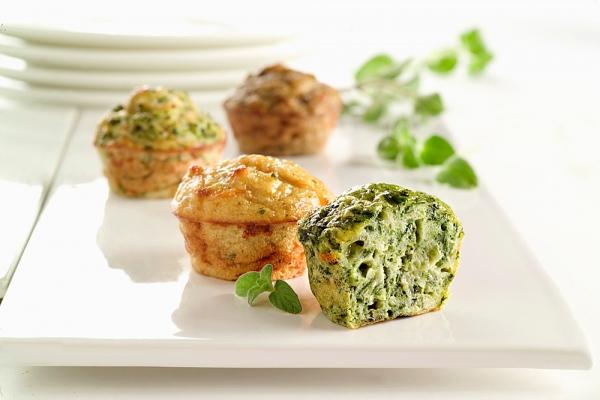 Sajtos-brokkolis muffin