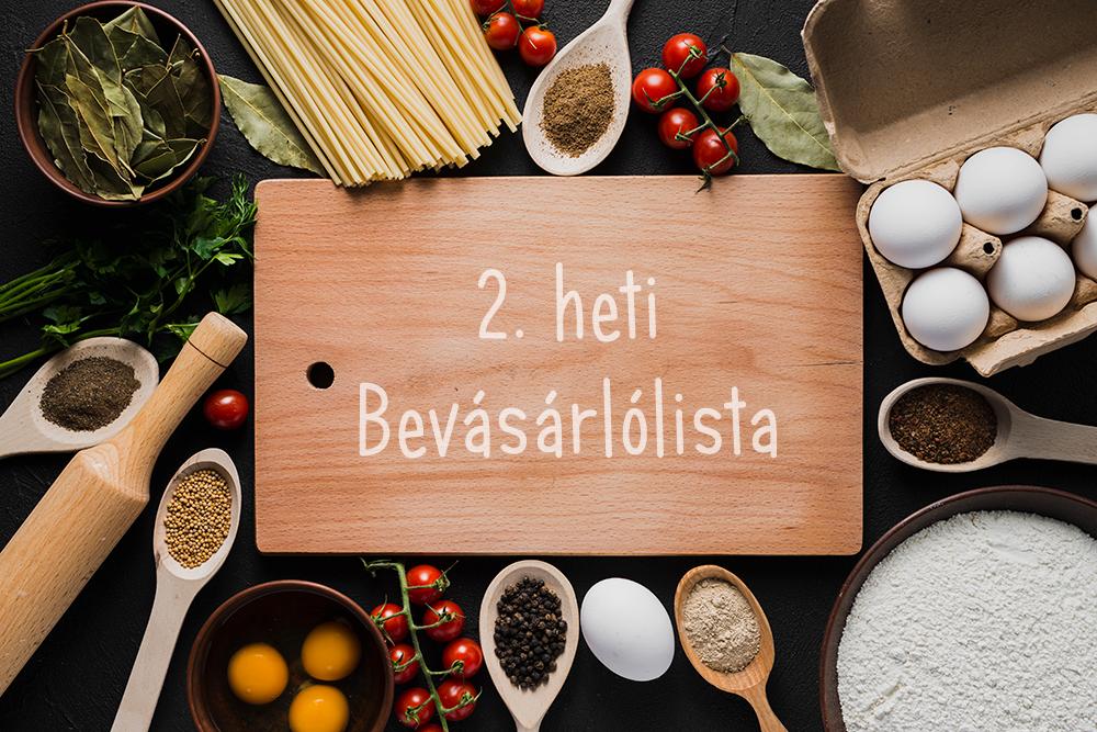 21 napos egészséges, gyors vacsora kihívás – 2.heti bevásárlólista
