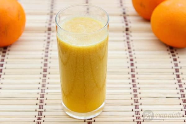 Körtés-narancsos turmix