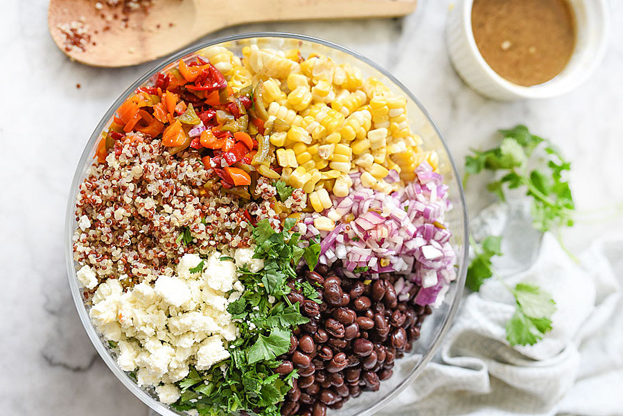 Tavaszi quinoa saláta