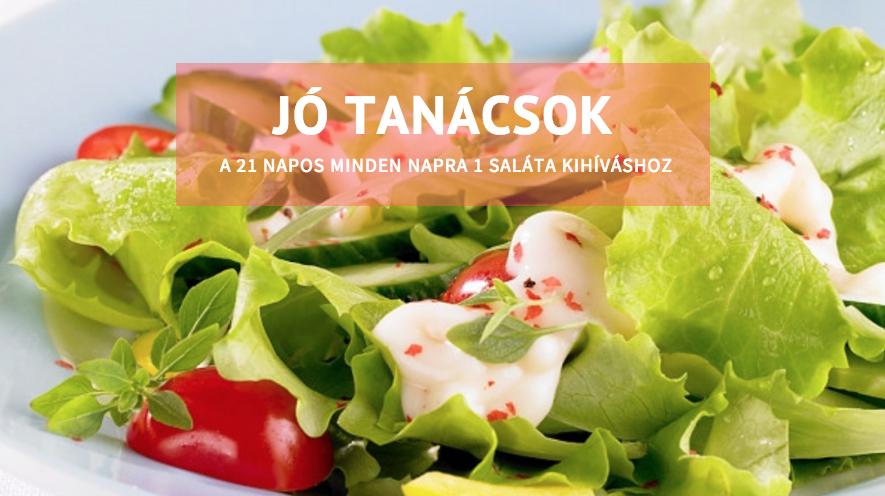 10 jó tanács a 21 napos – minden napra egy saláta kihíváshoz