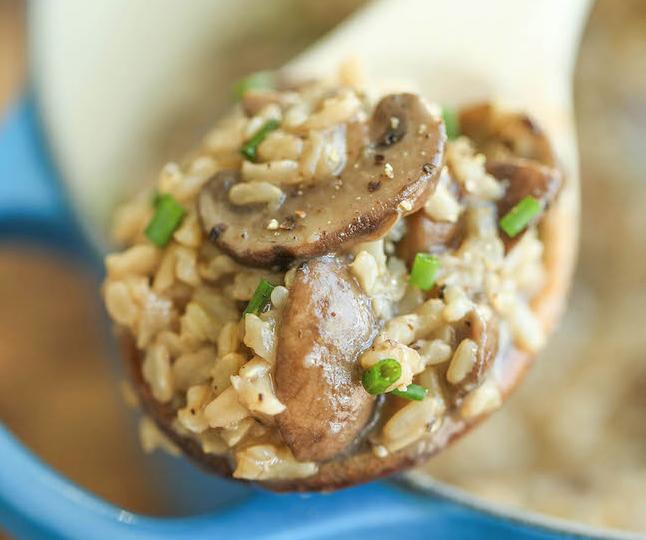 Serpenyős gombás rizs