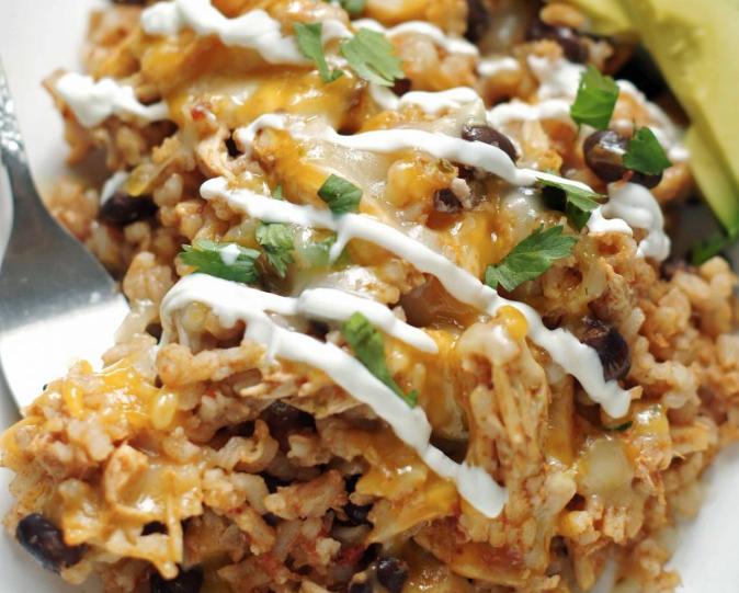 Mexikói csirkés-rizses egytál