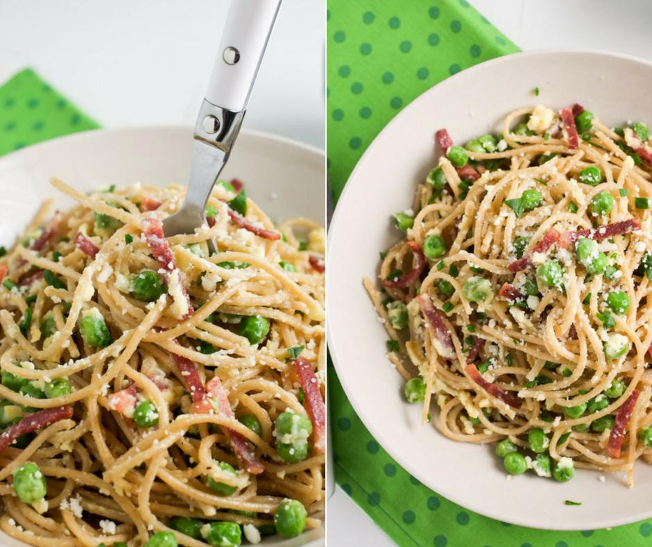 Zöldborsós spagetti