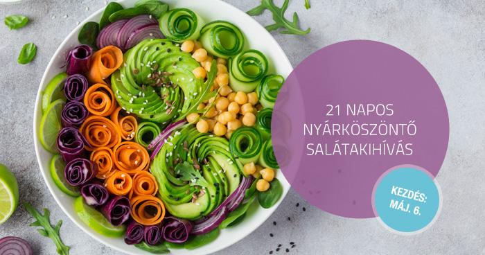 21 napos – nyárköszöntő salátakihívás