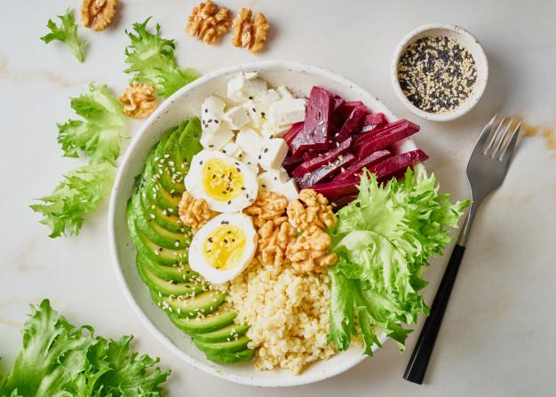 A tökéletes, teljes értékű saláta összetevői